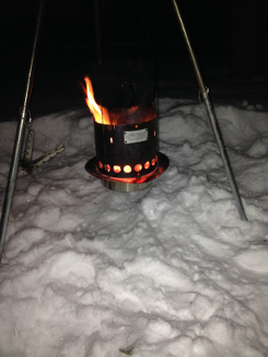 Winter Camping with a Littlbug Senior Wood Backpacking Stove